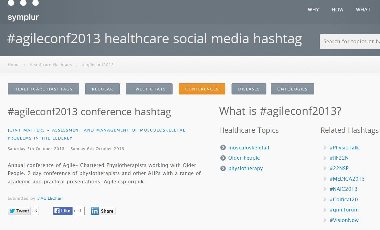 Using Twitter for your conference or event – physiotalk