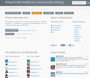 #physiotalk symplur 2