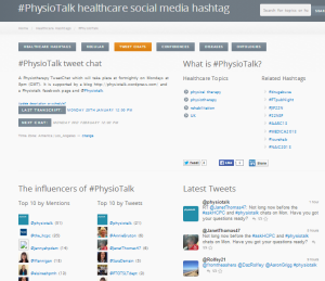 #physiotalk symplur 2