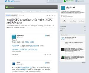 #askHCPC Storify