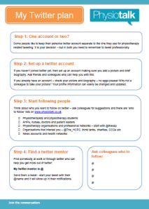My twitter plan 2