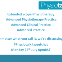 Advanced Practice in Physiotherapy: training, governance and impact #physiotalk 25 July 2016